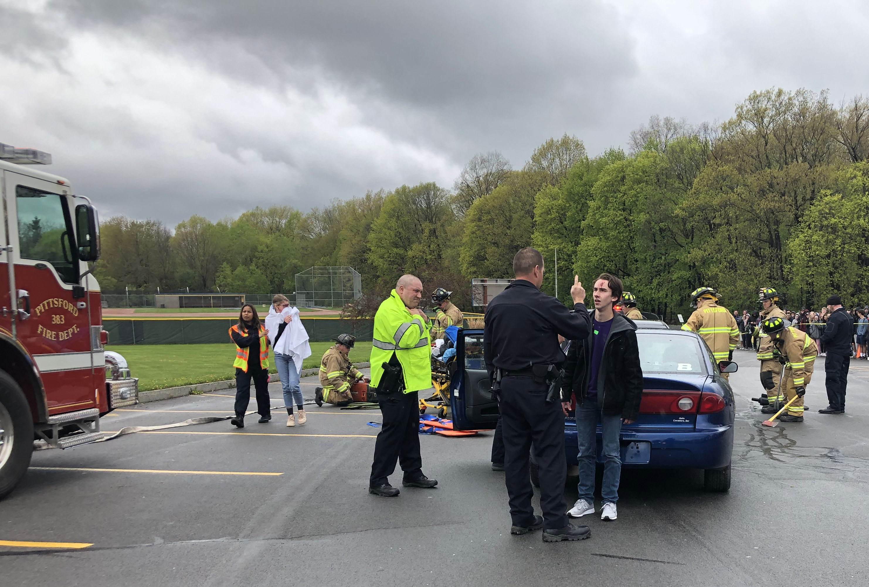 PVA Participates in Drunk Driving Reenactment at Pittsford Sutherland High School